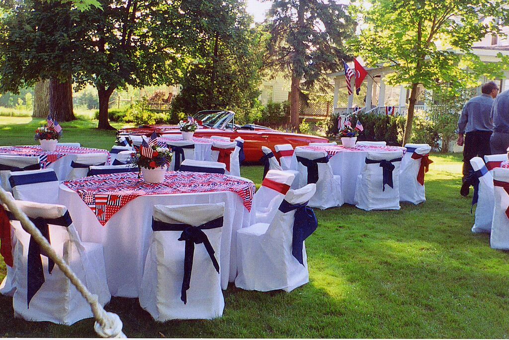 4th of July Chair Covers and Sashes