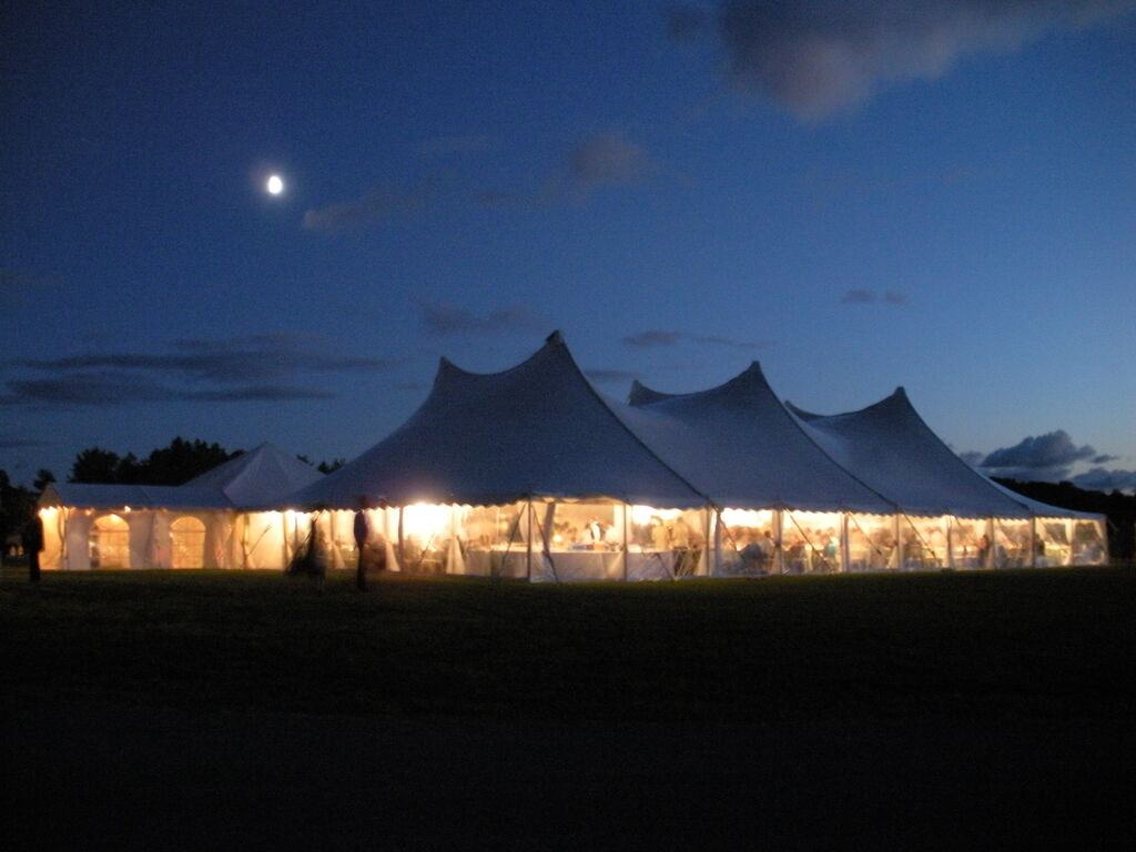 60x100 Tension Tent Evening Photo