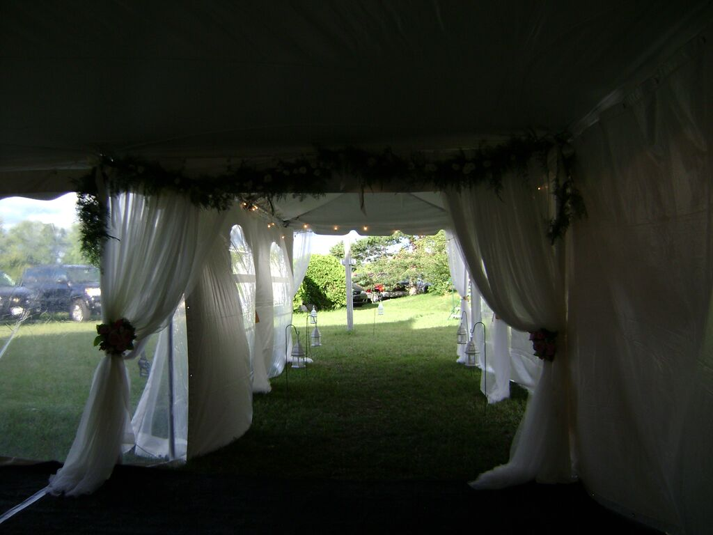 Marquee Tent Used as an Entrance