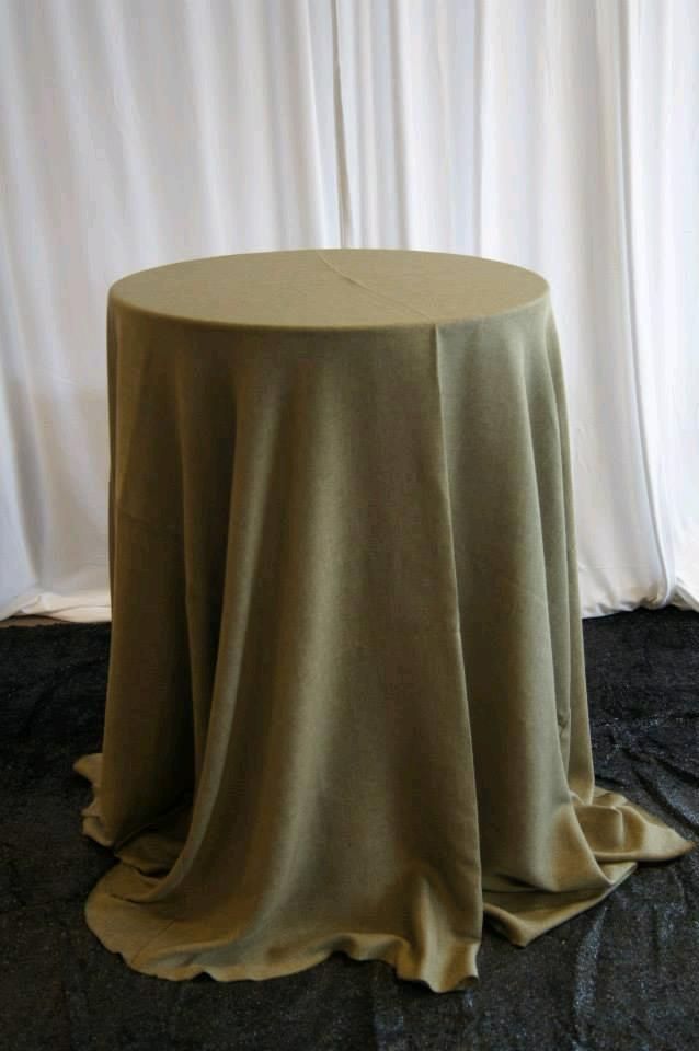 Olive Faux Burlap 120 Inch Round Rentals Petoskey Mi Where To Rent Olive Faux Burlap 120 Inch