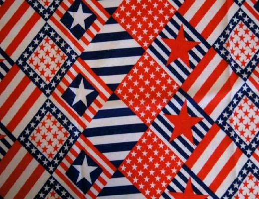 Where to find RED, WHITE   BLUE WITH STARS LINEN in Petoskey