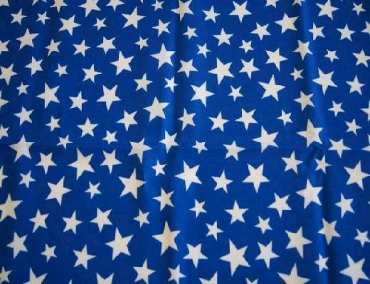 Where to find BLUE WITH WHITE STARS LINEN in Petoskey