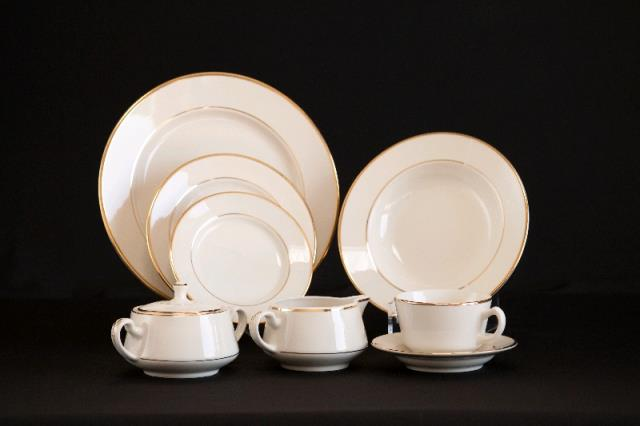 Where to find IVORY WITH GOLD TRIM CHINAWARE in Petoskey