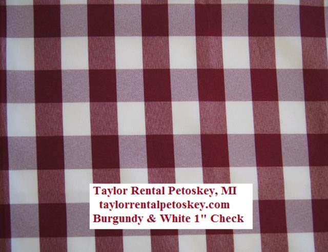 Where to find BURGUNDY   WHITE 1  CHECK LINEN in Petoskey