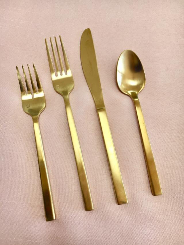 Where to find BRUSHED GOLD FLATWARE in Petoskey