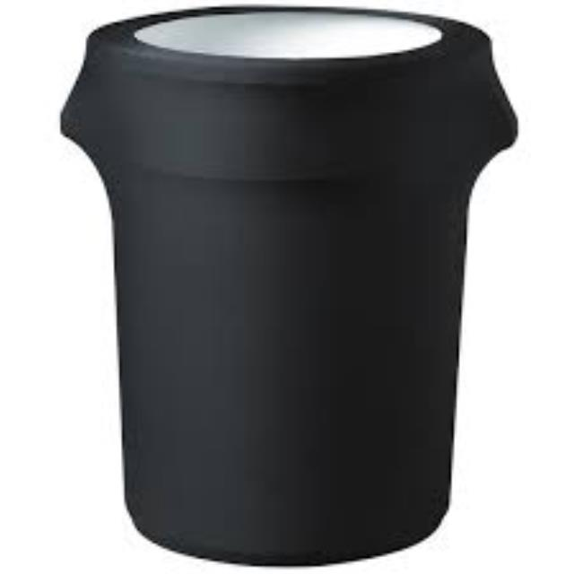 Where to find BLACK SPANDEX TRASH CAN COVER in Petoskey