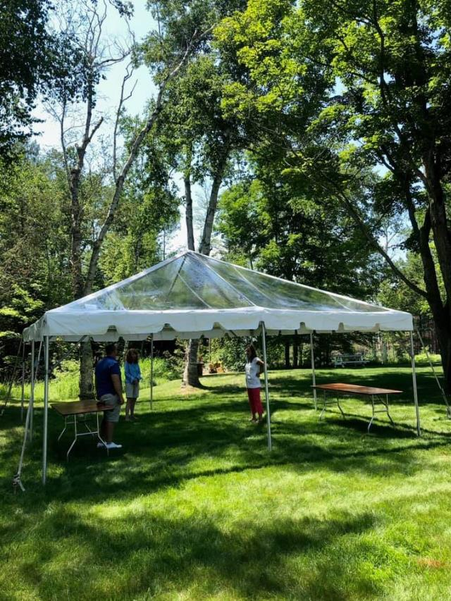 Where to find TENT, 20 X 20 CLEAR FRAME in Petoskey
