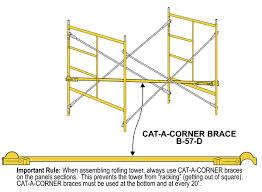 Where to find SCAFFOLD, CAT A CORNER BRACE in Petoskey