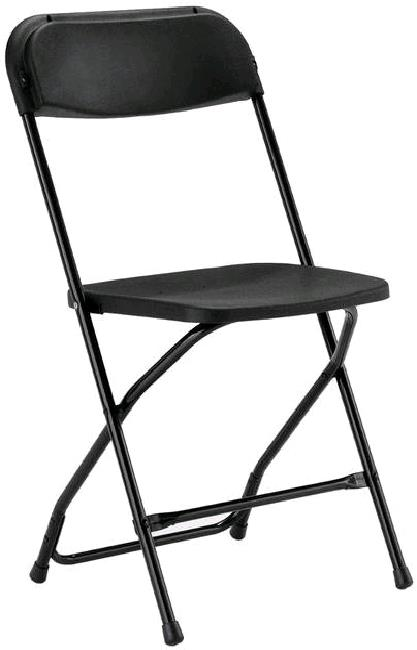 Where to find CHAIR, PLASTIC FOLDING BLACK in Petoskey