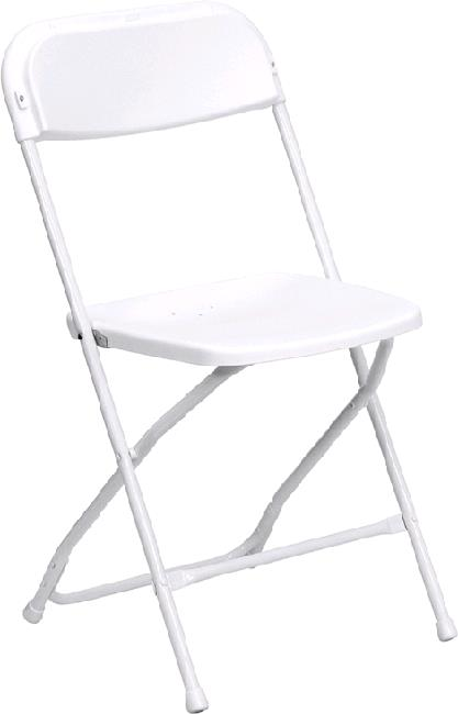Where to find CHAIR, PLASTIC FOLDING WHITE in Petoskey